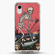 Load image into Gallery viewer, Death Tarot iPhone XR Case, White Plastic Case | JoeYellow.com