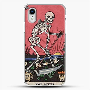 Death Tarot iPhone XR Case, White Plastic Case | JoeYellow.com