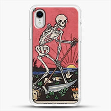 Load image into Gallery viewer, Death Tarot iPhone XR Case, White Rubber Case | JoeYellow.com