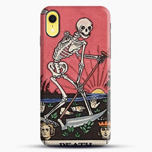 Load image into Gallery viewer, Death Tarot iPhone XR Case, Black Snap 3D Case | JoeYellow.com