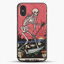 Load image into Gallery viewer, Death Tarot iPhone XS Max Case, Black Plastic Case | JoeYellow.com