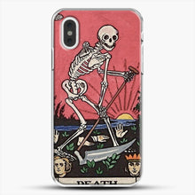 Load image into Gallery viewer, Death Tarot iPhone XS Max Case, White Plastic Case | JoeYellow.com