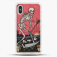 Load image into Gallery viewer, Death Tarot iPhone XS Max Case, White Rubber Case | JoeYellow.com