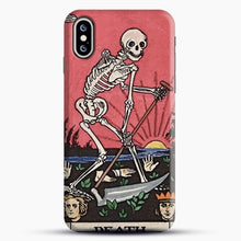 Load image into Gallery viewer, Death Tarot iPhone XS Max Case, Black Snap 3D Case | JoeYellow.com