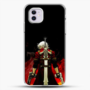 Devil Anime Fire iPhone 11 Case, White Plastic Case | JoeYellow.com