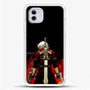 Devil Anime Fire iPhone 11 Case, White Rubber Case | JoeYellow.com