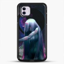 Load image into Gallery viewer, Devil Anime Purple Eyes iPhone 11 Case, Black Rubber Case | JoeYellow.com