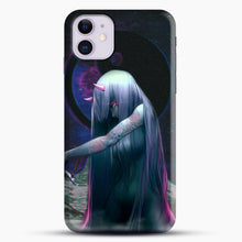 Load image into Gallery viewer, Devil Anime Purple Eyes iPhone 11 Case, Black Snap 3D Case | JoeYellow.com