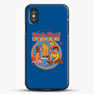 Devils Music Sing Along Darck Blue Background iPhone XS Case