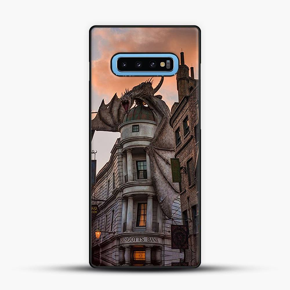 Diagon Alley Orange Cloud Samsung Galaxy S10 Case