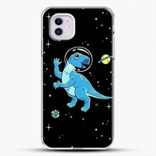 Load image into Gallery viewer, Dinosaurs In Space Cool Wall iPhone 11 Case