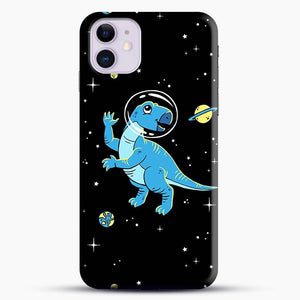 Dinosaurs In Space Cool Wall iPhone 11 Case