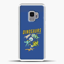 Load image into Gallery viewer, Dinosaurs In Space Dark Blue Background Samsung Galaxy S9 Case