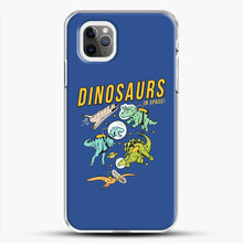 Load image into Gallery viewer, Dinosaurs In Space Dark Blue Background iPhone 11 Pro Max Case