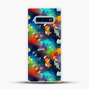 Dinosaurs In Space Gradient Wallpaper Samsung Galaxy S10 Case