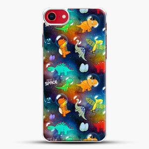 Dinosaurs In Space Gradient Wallpaper iPhone 7 Case