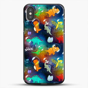 Dinosaurs In Space Gradient Wallpaper iPhone X Case