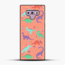 Load image into Gallery viewer, Dinosaurs In Space Peach Background Samsung Galaxy Note 9 Case