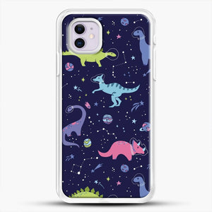 Dinosaurs In Space Purple Sky iPhone 11 Case