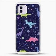 Load image into Gallery viewer, Dinosaurs In Space Purple Sky iPhone 11 Case