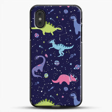 Load image into Gallery viewer, Dinosaurs In Space Purple Sky iPhone XS Max Case