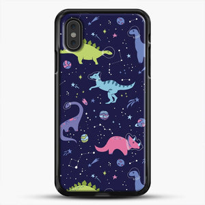 Dinosaurs In Space Purple Sky iPhone XS Max Case