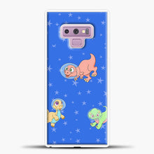 Load image into Gallery viewer, Dinosaurs In Space Stars Pattern Samsung Galaxy Note 9 Case