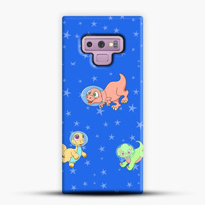 Dinosaurs In Space Stars Pattern Samsung Galaxy Note 9 Case