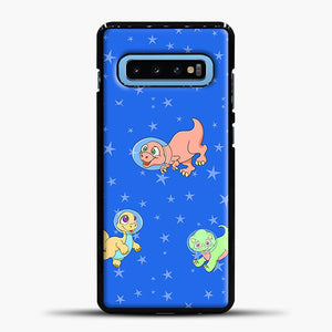 Dinosaurs In Space Stars Pattern Samsung Galaxy S10 Case