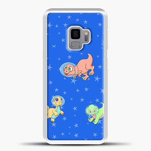 Dinosaurs In Space Stars Pattern Samsung Galaxy S9 Case