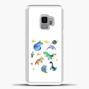 Dinosaurs In Space Watercolor Image Samsung Galaxy S9 Case