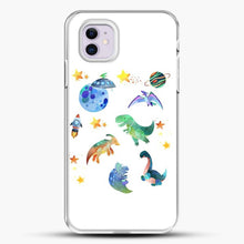 Load image into Gallery viewer, Dinosaurs In Space Watercolor Image iPhone 11 Case