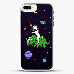 Dinosaurs In Space Whit Unicorn iPhone 8 Plus Case