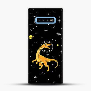 Dinosaurs In Space Yellow And Orange Samsung Galaxy S10 Case
