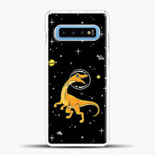 Load image into Gallery viewer, Dinosaurs In Space Yellow And Orange Samsung Galaxy S10 Case