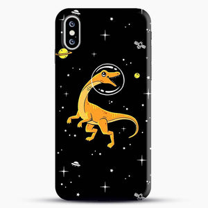 Dinosaurs In Space Yellow And Orange iPhone XS Max Case