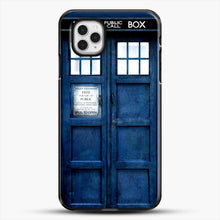 Load image into Gallery viewer, Doctor Who Tardis iPhone 11 Pro Case, Black Plastic Case | JoeYellow.com