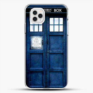 Doctor Who Tardis iPhone 11 Pro Case, White Plastic Case | JoeYellow.com