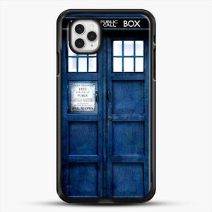 Doctor Who Tardis iPhone 11 Pro Case, Black Rubber Case | JoeYellow.com