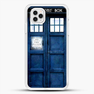 Doctor Who Tardis iPhone 11 Pro Case, White Rubber Case | JoeYellow.com