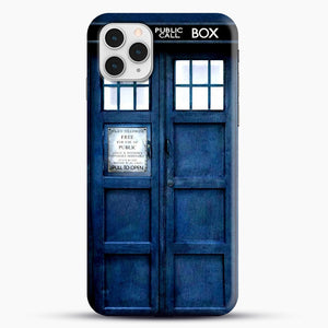 Doctor Who Tardis iPhone 11 Pro Case, Black Snap 3D Case | JoeYellow.com