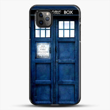 Load image into Gallery viewer, Doctor Who Tardis iPhone 11 Pro Max Case, Black Plastic Case | JoeYellow.com