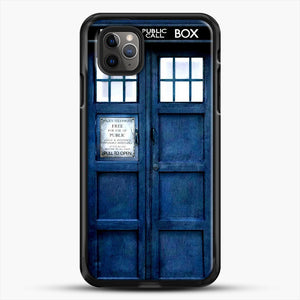 Doctor Who Tardis iPhone 11 Pro Max Case, Black Rubber Case | JoeYellow.com