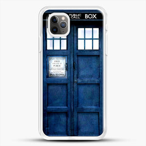 Doctor Who Tardis iPhone 11 Pro Max Case, White Rubber Case | JoeYellow.com