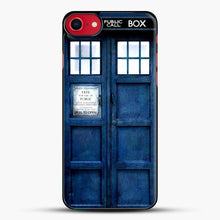 Load image into Gallery viewer, Doctor Who Tardis iPhone SE 2020 Case, Black Plastic Case | JoeYellow.com