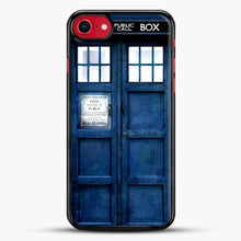 Load image into Gallery viewer, Doctor Who Tardis iPhone SE 2020 Case, Black Rubber Case | JoeYellow.com