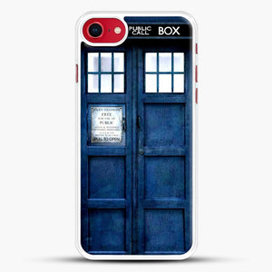 Doctor Who Tardis iPhone SE 2020 Case, White Rubber Case | JoeYellow.com