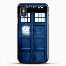 Load image into Gallery viewer, Doctor Who Tardis iPhone XS Case, Black Plastic Case | JoeYellow.com