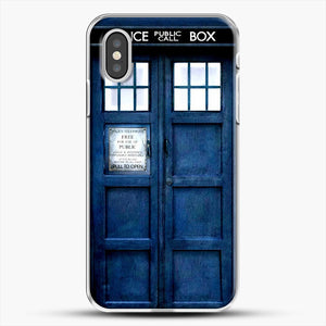 Doctor Who Tardis iPhone XS Case, White Plastic Case | JoeYellow.com