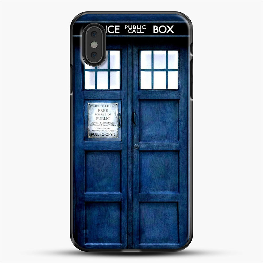 Doctor Who Tardis iPhone XS Max Case, Black Plastic Case | JoeYellow.com